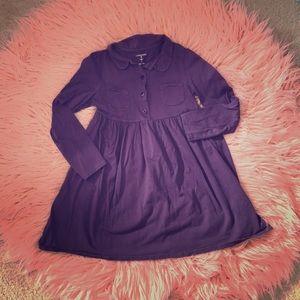 Girls Lands End Purple Dress